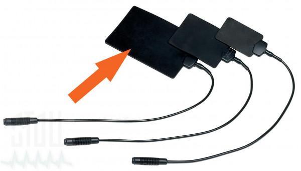 Leitgummiplattenelektrode (8x12 cm), 4 mm Buchse, Satz von 2