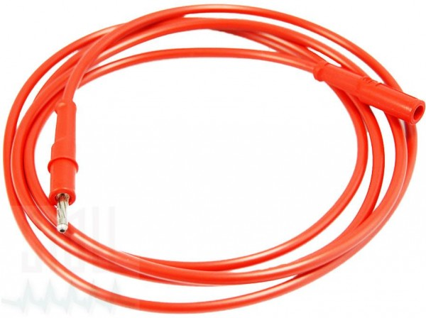 Elektrodenschlauch rot/rot (Stecker/Buchse)
