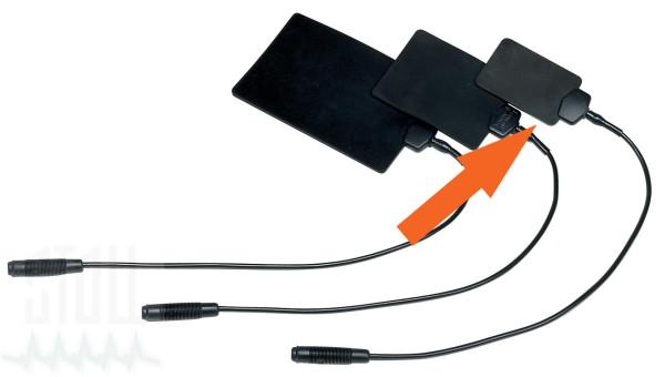 Leitgummiplattenelektrode (4x6 cm), 4 mm Buchse, Satz von 2