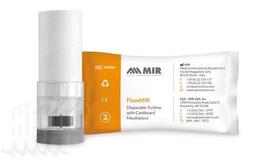 FlowMir Einweg Turbinen mit Papiermundstück (60 Stück)